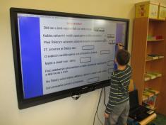 Interaktivní panel v naší třídě
